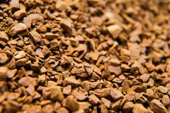 Pile of instant coffee grains background close up Royalty Free Stock Images