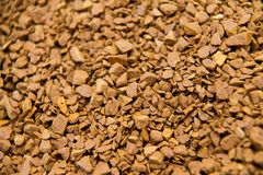 Pile of instant coffee grains background close up Royalty Free Stock Image