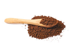 Pile of instant coffee grains Stock Photo