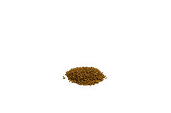 Pile of the instant granulated coffee isolated on white backgrou Royalty Free Stock Photo