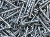 Pile of Iron Nails. Detail of a stack of iron nails Royalty Free Stock Photography