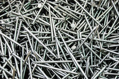 Pile of iron nails Stock Image