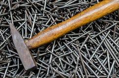 Pile of iron nails Stock Image