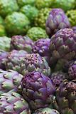 Pile of Italian Artichokes vertical Royalty Free Stock Images