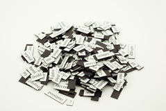 Pile of italian words Stock Photo