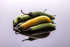 Pile of jalapeno peppers. Stock Photo