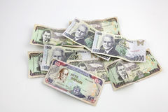 A pile of Jamaican paper money Royalty Free Stock Photo