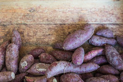 The pile of japanese purple potato Royalty Free Stock Photos