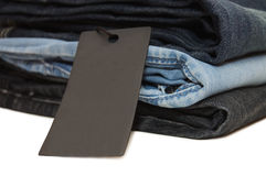 Pile of jeans Stock Images