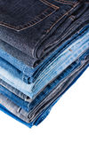 Pile of jeans Royalty Free Stock Photo
