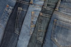 It is a pile of jeans. It is a pile of blue jeans Royalty Free Stock Image