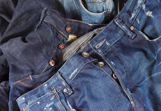 The pile of jeans Royalty Free Stock Images