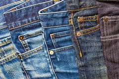Pile of jeans. Pile of blue and black jeans Royalty Free Stock Photo