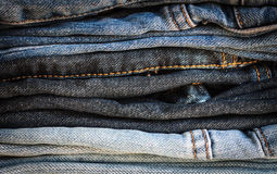 Pile of jeans. Fashionable clothes, pile of jeans Stock Images