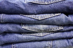 Pile of Jeans. Old blue jeans Royalty Free Stock Photos