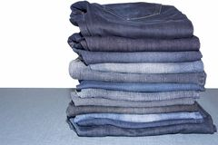 Pile of jeans. Ready for recycling Royalty Free Stock Photography