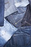 Pile of jeans. Ready for recycling Royalty Free Stock Image