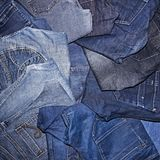 Pile of jeans. Ready for recycling Royalty Free Stock Photos