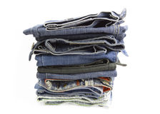 A pile of jeans Royalty Free Stock Image