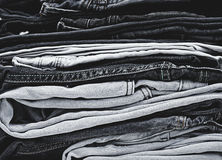 Pile of Jeans. Pile of stylish blue Jeans Stock Images