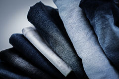 Pile of Jeans. Pile of stylish blue Jeans Stock Photography