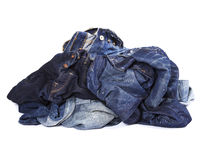 The pile of jeans Stock Image