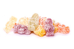 Pile of jelly baby sweets. Cutout Royalty Free Stock Image