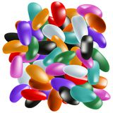 Pile of jelly beans Stock Photo