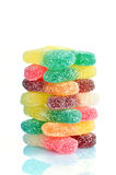 A pile of jelly candies on a white background Stock Photography