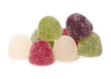 Pile of jelly sweets cutout Stock Photos