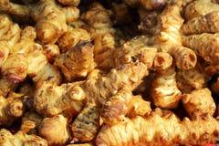 Pile of jerusalem artichoke (sunchoke) Stock Image