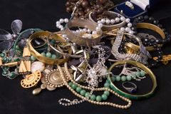 Pile of jewels Stock Photo