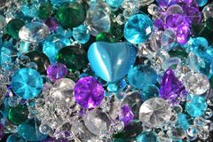 Pile of Diamonds, Rubies, Emeralds and Sapphires. Pile of Jewels, Diamonds, Rubies, Emeralds and Sapphires Stock Photo
