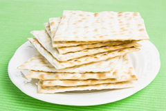 Pile of Jewish Matza bread Royalty Free Stock Photos