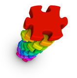 Pile of jigsaw puzzle Stock Photo