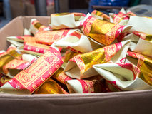 Pile of Joss Paper / Gold Paper stock image