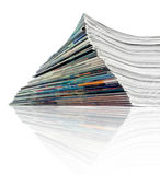 Pile of journals. A large stack of magazines piled high royalty free stock photography