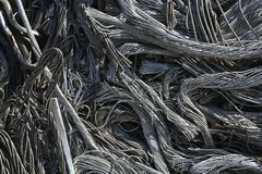 Wire, junk, trash. Pile of junk, wire, metal trash for scrap Royalty Free Stock Image