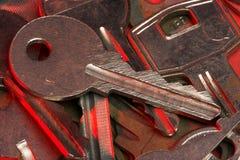 Pile of keys Royalty Free Stock Photos