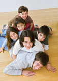 Pile of kids Royalty Free Stock Image