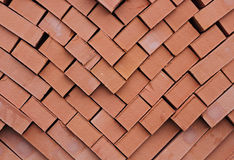 A pile of kiln bricks Royalty Free Stock Photo