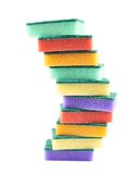Pile of kitchen sponges Royalty Free Stock Photo