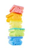 Pile of kitchen sponges Royalty Free Stock Images