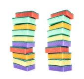 Pile of kitchen sponges Stock Image