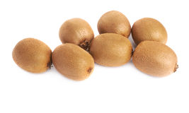 Pile of kiwifruits isolated Stock Image
