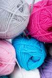 Pile of knitting wool Stock Photos