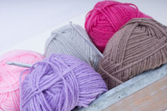 Pile of knitting wool Stock Image