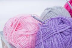 Pile of knitting wool royalty free stock image