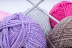 Pile of knitting wool royalty free stock photo