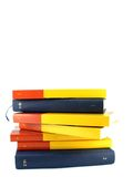Pile of knowledge. Pile of books isolated on white Royalty Free Stock Photos